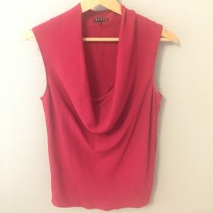 Theory plunge neck blouse